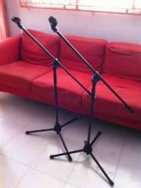 Mic Stands Boomed