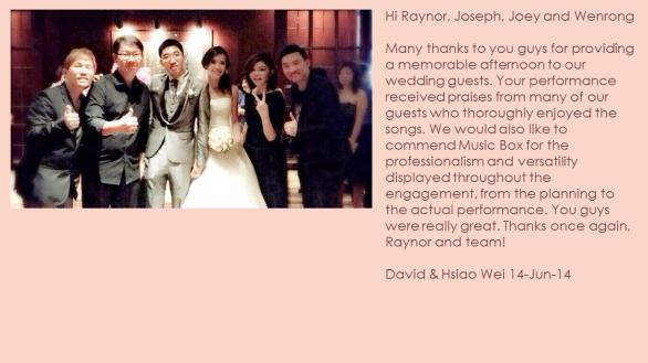 David & Hsiao Wei 14-Jun-14