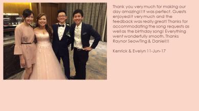 Kenrick & Evelyn 11-Jun-17