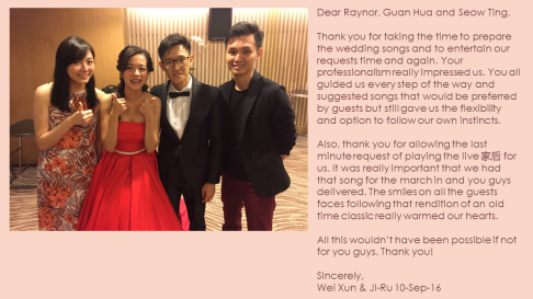Wei Xun & Ji-Ru 10-Sep-16
