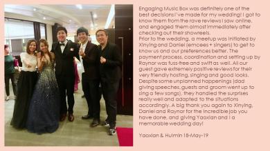 Yaoxian & Huimin 18-May-19
