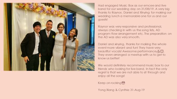 Yong Xiang & Cynthia 31-Aug-19